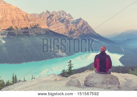 Peyto Lake in Banff National Park, Canada