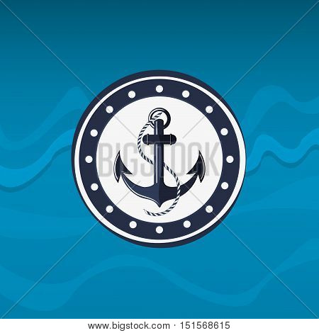 anchor with nautical sea life related icons image vector illustration design