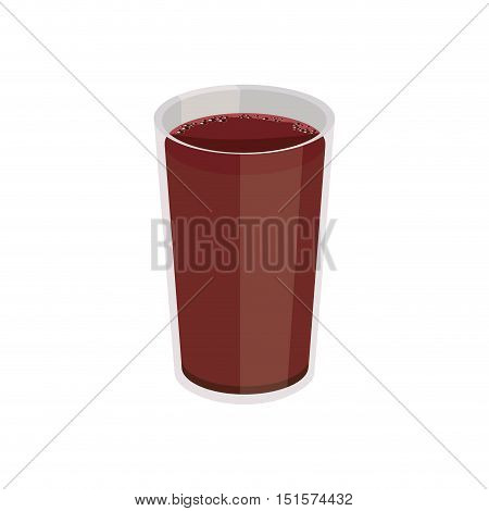 breakfast plastic cup with drink vector illustration