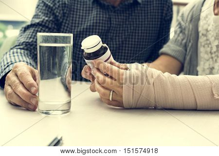Care Health Elastic Bandage Accident Concept