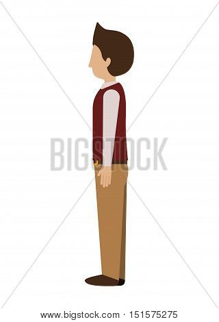 man standing with left profile blazer vector illustration