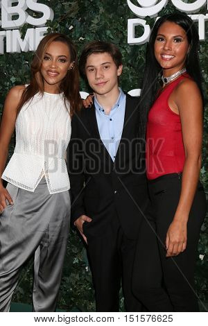 LOS ANGELES - OCT 10:  Reign Edwards, Anthony Turpel, Felisha Cooper at the CBS Daytime #1 for 30 Years Exhibit Reception at the Paley Center For Media on October 10, 2016 in Beverly Hills, CA