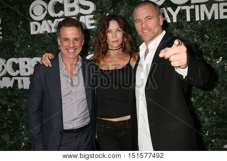 LOS ANGELES - OCT 10:  Christian LeBlanc, Stacy Haiduk, Sean Carrigan at the CBS Daytime #1 for 30 Years Exhibit Reception at the Paley Center For Media on October 10, 2016 in Beverly Hills, CA