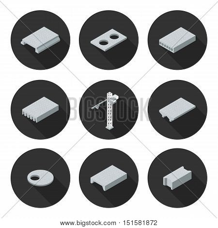 set of flat icons slab in vector format eps10