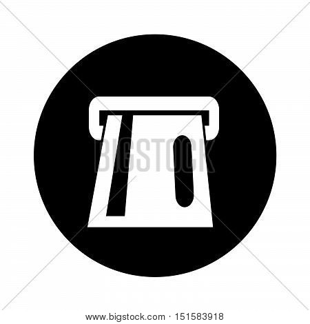 an images of Atm card slot icon illustration design