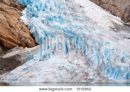 Walking Up The Glacier