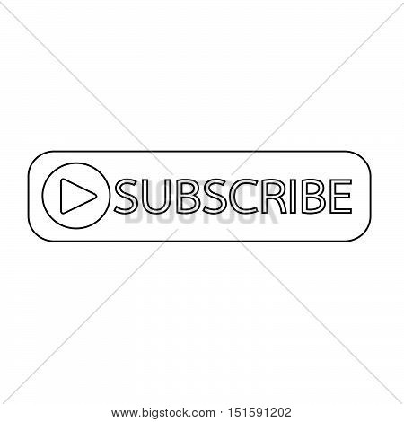 an images of Subscribe button icon illustration design
