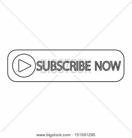 an images of Subscribe now button icon illustration design