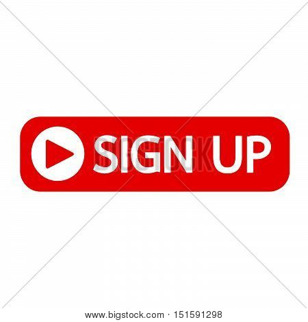an images of sign up button icon illustration design