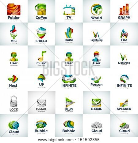 abstract business logo collection. Universal internet concepts