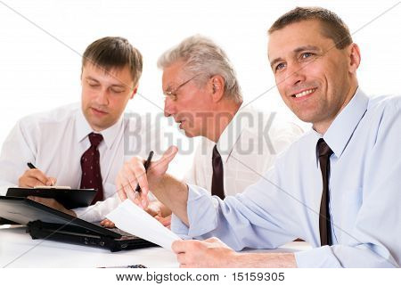 Three Businessmen Working