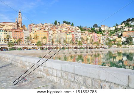 Menton at french Riviera in South of France