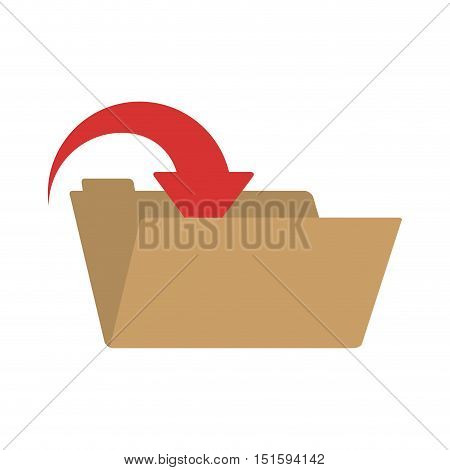folder with red arrow inside vector illustration