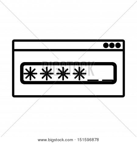 silhouette Password text box with key vector illustration