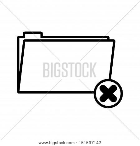 silhouette folder symbol to erased files vector illustration vector illustration