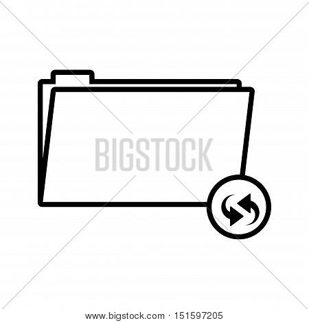 silhouette folder symbol to update files vector illustration vector illustration