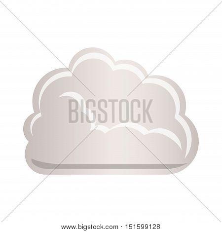 cloud tridimensional in cumulus shape vector illustration