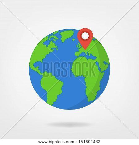 Europe On Globe, World Map Illustration