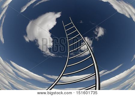 Twisting Ladder Leads to Sky 3D Render