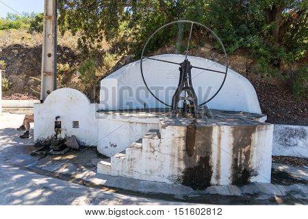 A roadside water wheel still functioning very well with crystal clear and cold water!!