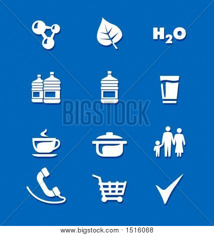 Icons Food Water Family Shopping