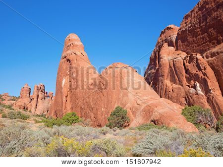 Rock formations in the