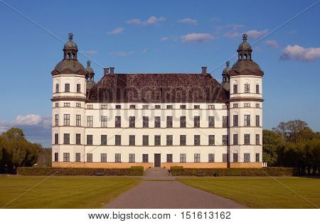 Skokloster castles in Sweden built in 1654-1676 by the Count and Field Marshal Carl Gustaf Wrangel palace is now owned by the National Property Board (Statens fastighetsverk).