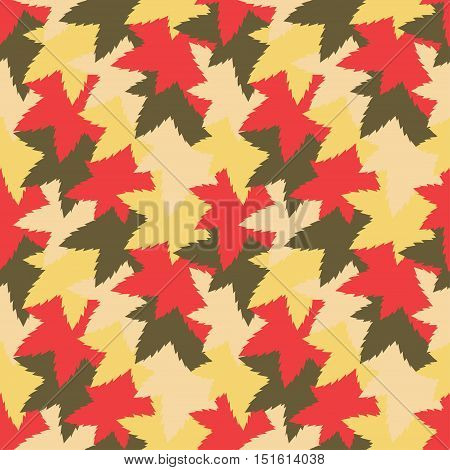 Bright seamless pattern background with camouflage leaf like colored pieces. Vector illustration eps