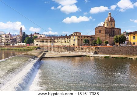 Italy Toscana Florence. Quay of the river Arno
