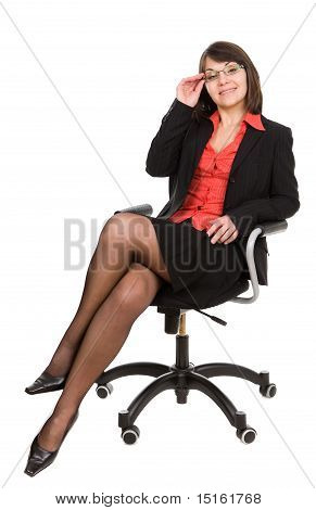 Business Woman Isolated