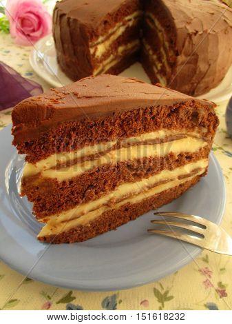 Kinder pingui kind of cake chocolate cream tasty