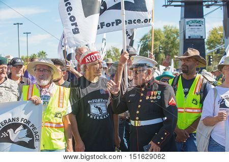 Organizers At Veterans For Peace Protest March