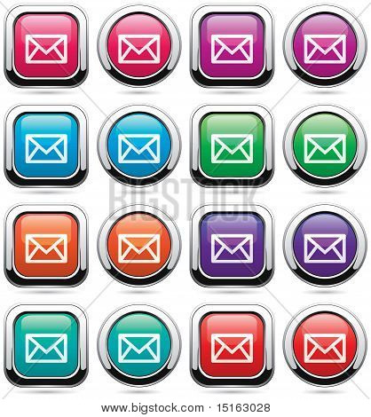 Vector Set Of Mail Buttons