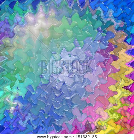 Abstract coloring background of the abstract gradient with visual mosaic, hexagon,spherize,lighting,wave and plastic wrap effects