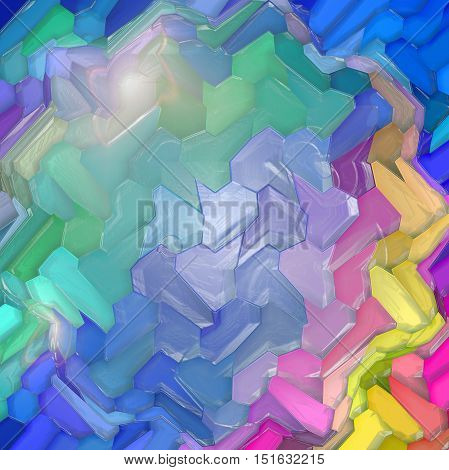 Abstract coloring background of the abstract gradient with visual mosaic, hexagon,lighting,spherize,wave and plastic wrap effects