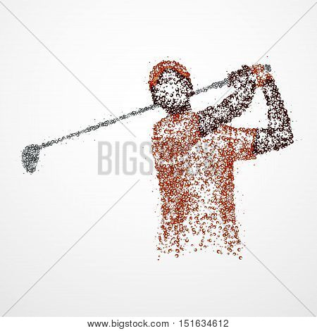Abstract image of a golfer. Photo illustration.