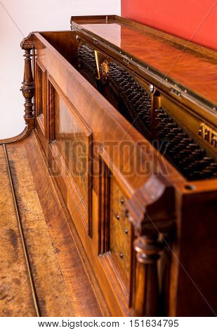 Piano detail of an old German piano