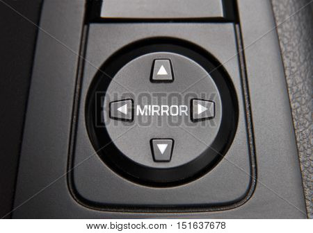 side mirror switch control, car interior detail