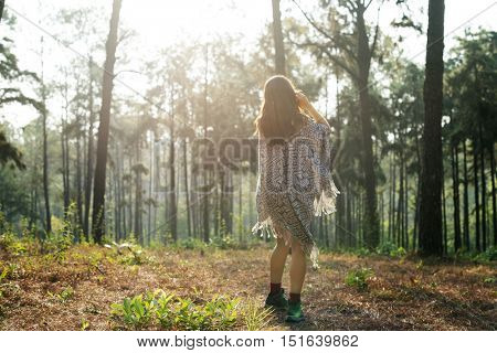 Girl Travel Adventure Solitude Relaxation Vacation Concept