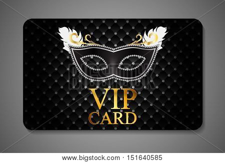 Elegant Dark VIP Card Vector Illustration EPS10