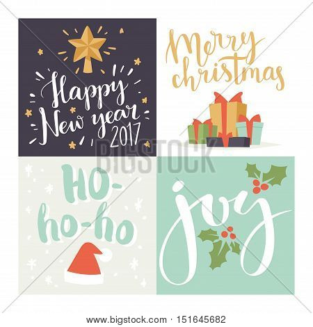 Christmas greeting card vector background banner. Christmas Holidays winter background. Hand draw greeting card background. Christmas banners New Year banner