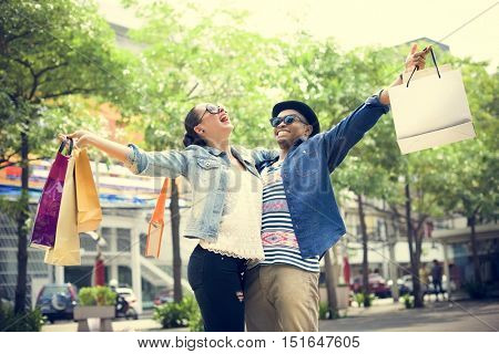 People Shopping Spending Customer Consumerism Concept