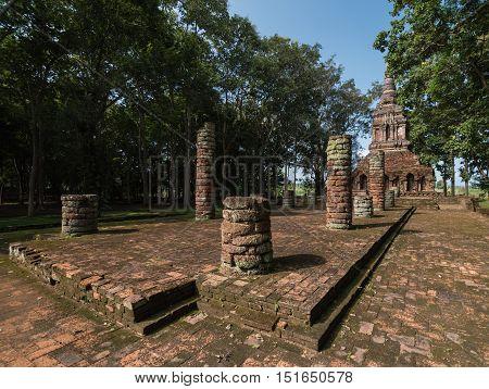 Ancient pagoda at Wat pha sak templeChiang san districtThailand.Wat Pha sak's origins date back to the 13th or 14th centuries.