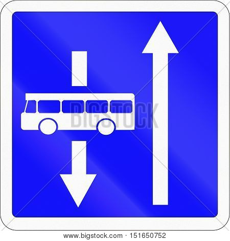 French Informational Road Sign - Oncoming Buses