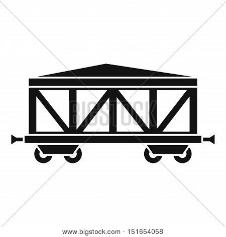 Train cargo wagon icon. Simple illustration of train cargo wagon vector icon for web