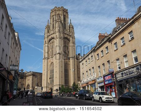 Bristol University Wills Memorial In Bristol