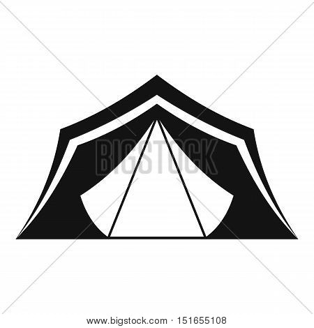 Tent icon. Simple illustration of tent vector icon for web