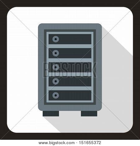 Security safe locker icon. Flat illustration of security safe locker vector icon for web
