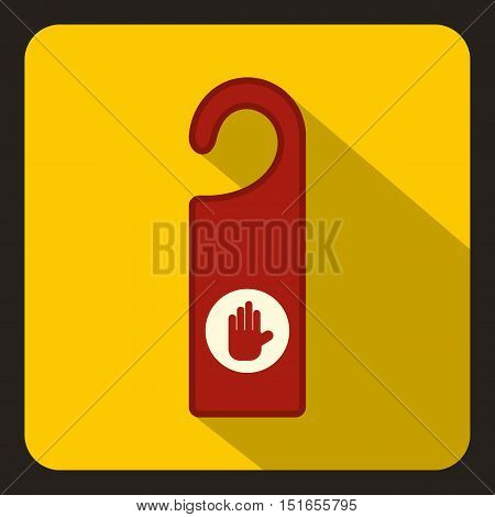Do not disturb red sign icon. Flat illustration of do not disturb sign vector icon for web