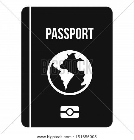 Passport icon. Simple illustration of passport vector icon for web